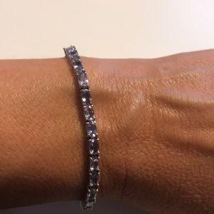 JTV Blue Tanzanite Silver Bracelet NWOT